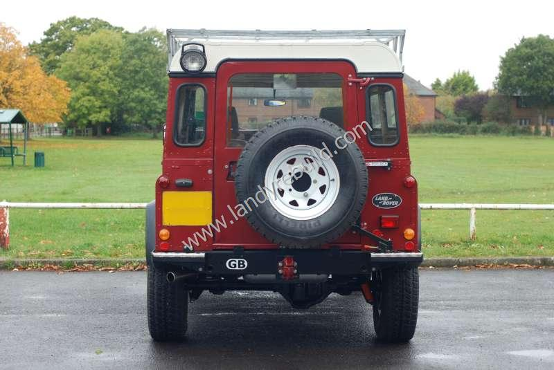 Rear view Land Rover 110
