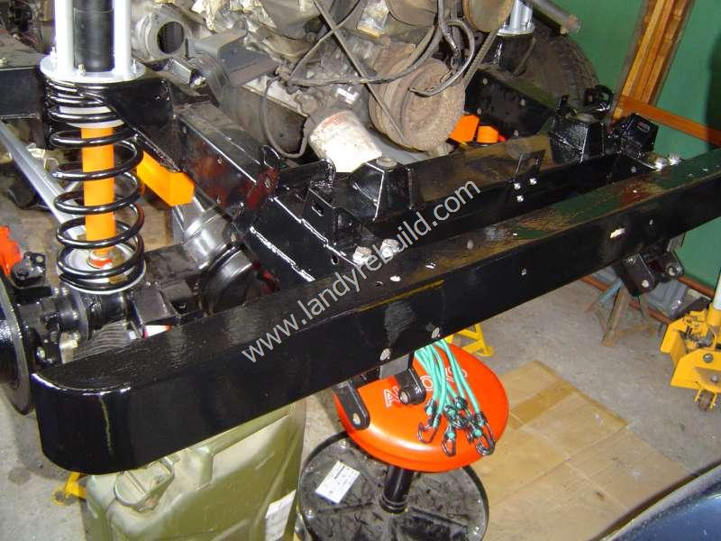 Front axle refitted