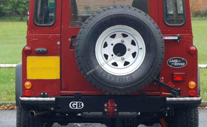 110 spare wheel mounted on Pivlock carrier