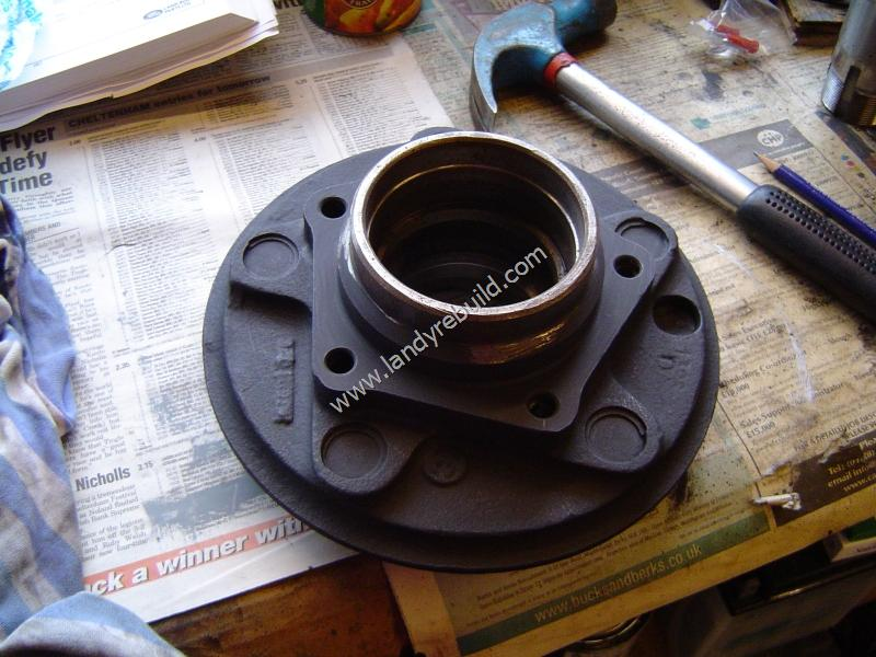 Painted front hub