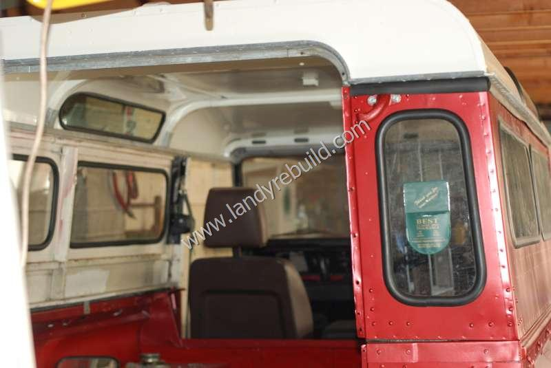Land Rover roof refitted